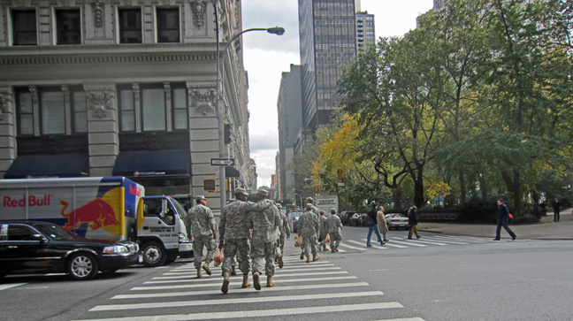 National Guard troops at Madison Square Park