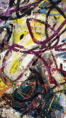 "Detail from""There were Seven in Eight"" by Pollock"