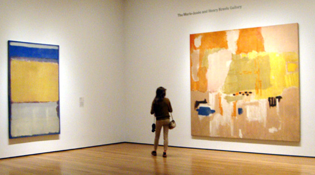 """No. 10"" by Rothko, left; No. 1(Untitled) by Rotho, right"
