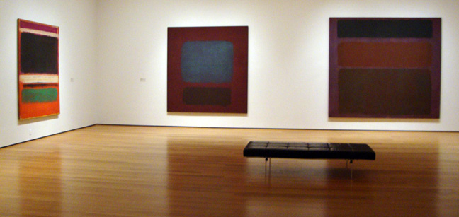 """No. 16"" by Rothko, right"