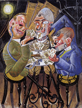 """Die Skatspieler/The Skat Players"" by Otto Dix"