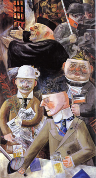 """Stützen der Gesselschaft/Pillars of Society"" by Grosz"