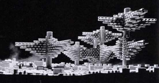 """Clusters in the Air"" project by Isozaki"