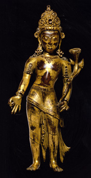 Gilt figure of Padmapani