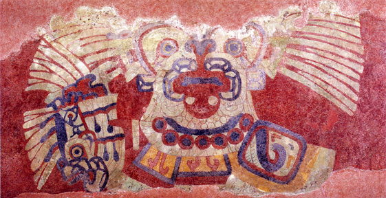 Art museums the aztec empire at the solomon r guggenheim for Aztec mural painting