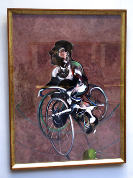 """Portrait of George Dyer Riding a Bicycle"""