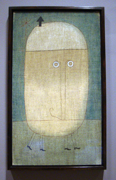 """Mask of Fear"" by Klee"