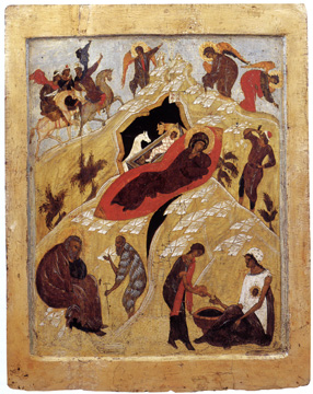 Icon with the Nativity, Central Rus'