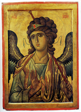 Icon with the Archangel Gabriel