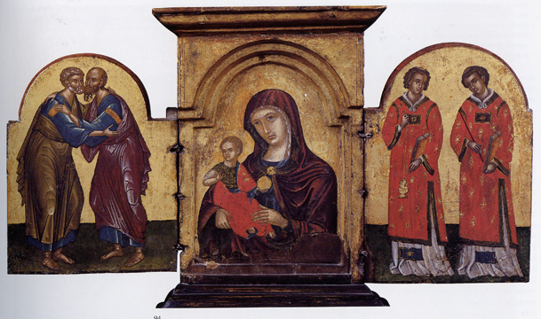 Triptych with Virgin and Child and Saints