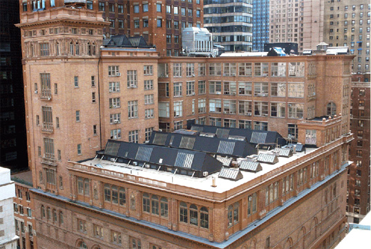 Roof of Carnegie Hall Studios