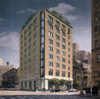rendering of 47 East 91st Street
