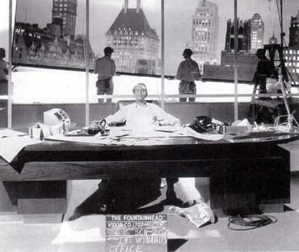 "Production still from ""The Fountainhead"""