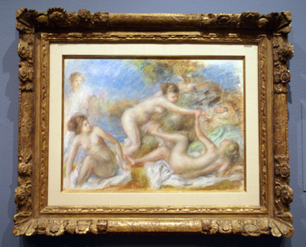 """Nude Bathers with a Crab"" by Renoir"