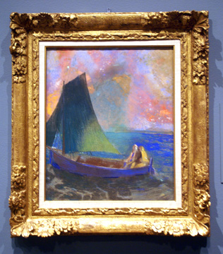"""Sailing Boat with Two Passengers (La Barque)"" by Odilon Redon"