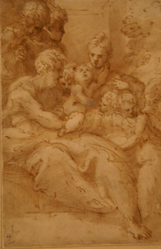 """Holy Family with Shepherds and Angels"" by Parmigianino"