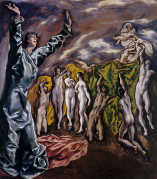 """The Opening of the Fifth Seal (The Vision of Saint John"" by El Greco"