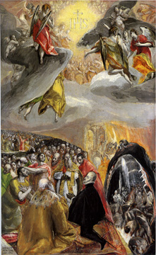 """The Adoration of the Name of Jesus"" by El Greco"