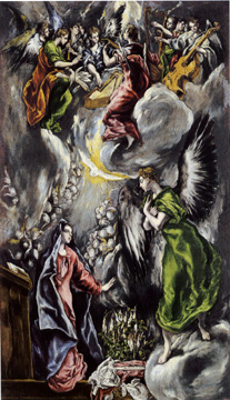 """The Annunciation"" by El Greco"