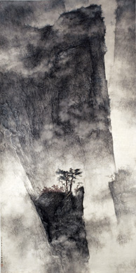 """Song Mountain Landscape"" by Li Huayi"