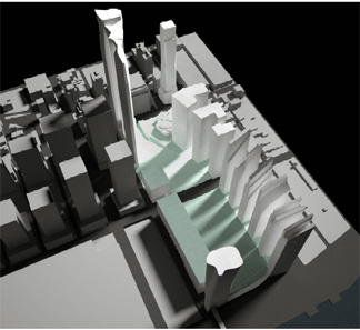 Model of Extell plan