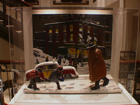"""Eighth Avenue Snow Scene"" by Red Grooms"