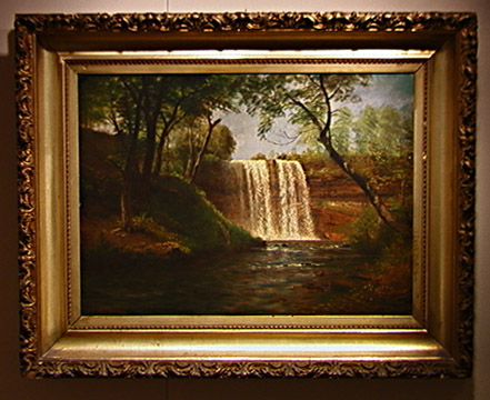 """Minnehana Falls"" by Albert Bierstadt"
