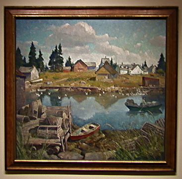 """Port Clyde, Maine"" by N. C. Wyeth"