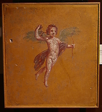Roman wall painting of Eros