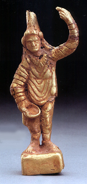 Greek gold figure of an Asian deity
