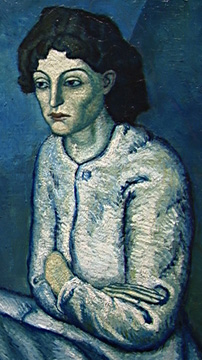 Detail of Woman with Crossed Arms by Picasso