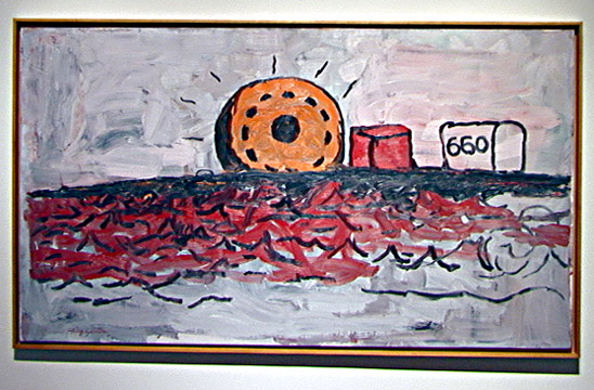 """Maverick Sun"" by Philip Guston"