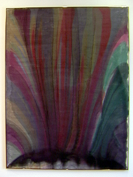 """Atomic Crest"" by Morris Louis"