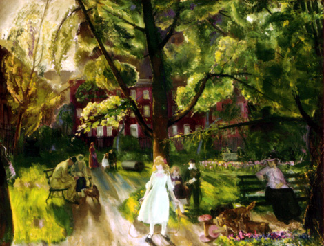 'Gramercy Park' by George Bellows