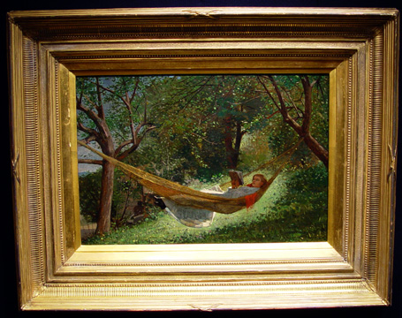 """Girl in Hammock"" by Homer"