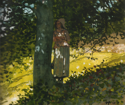 """A Shady Spot, Houghton Farm"" by Winslow Homer"
