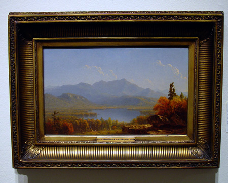"""Mote Mountain from Echo Lake, New Hampshire"" by Gifford"