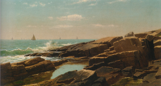 """Rocks at Narragansett, Rhode Island"" by Haseltine"