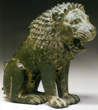 Greek bronze lion