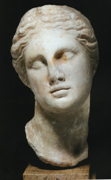 Greek marble portrait of a queen