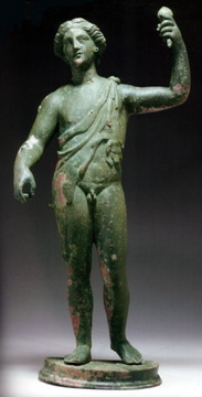 Roman bronze figure of Bacchus