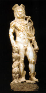 Roman marble statue of Mercury