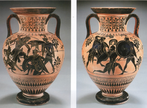 Attic black-figured amphora attributed to the Group of Toronto