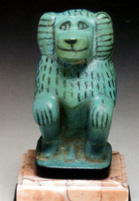 Egyptian faience baboon