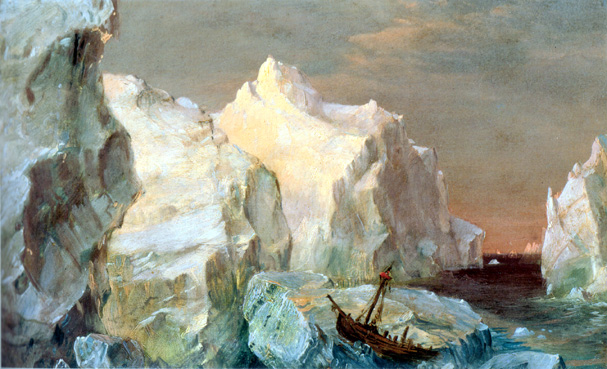 "Study for ""The Icebergs"" by Church"