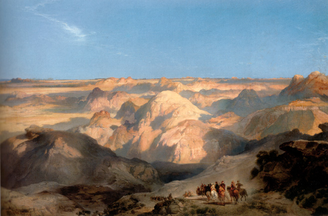 """Badlands of the Dakota"" by Moran"