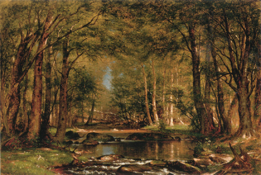 """A Catskill Brook"" by Whittredge"