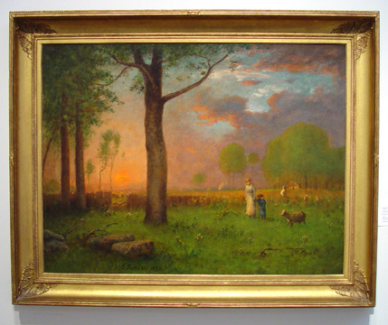 """Sunset"" by George Inness"