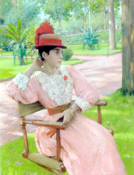 """Afternoon in the Park,"" by William Merritt Chase"