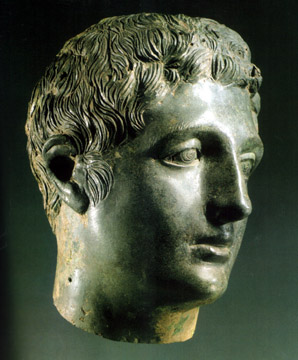 Hellenistic bronze head of a man
